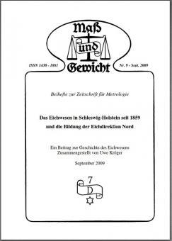 Sonderheft Nr. 9, Das Eichwesen in Schleswig-Holstein seit 1859. Download - herunterladbare Datei (Pdf)