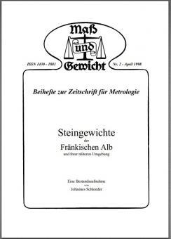 Sonderheft Nr. 2, April 1998 - Steingewichte der Fränkischen Alb. Download - herunterladbare Datei (Pdf)