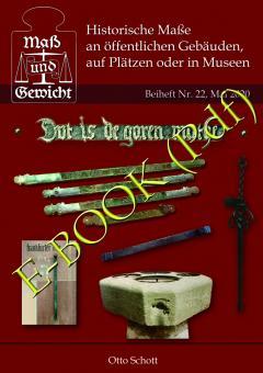 """Nr. 22 - Otto Schott - """"Historische Maße an öffentlichen Gebäuden, auf Plätzen oder in Museen"""" - DOWNLOAD-Datei"""